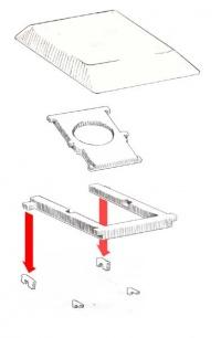 separating internal and external retainers in keyboard keys